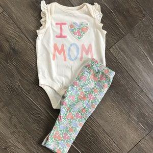 Baby Gap Sleeveless Onesie Set with Matching Pants